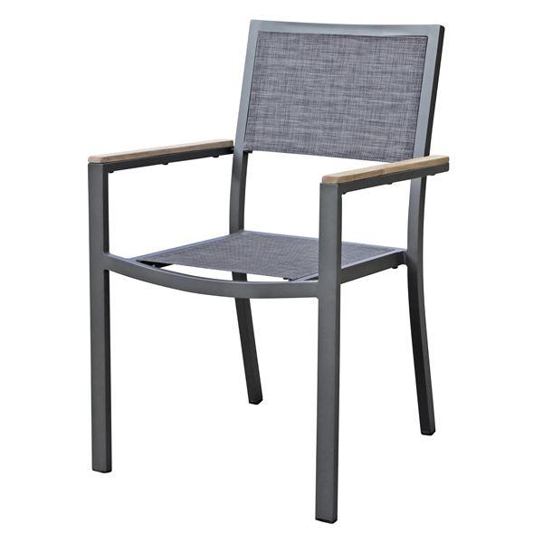 METRO Professional Stuhl Valdivia Teak/Textil  Anthrazit