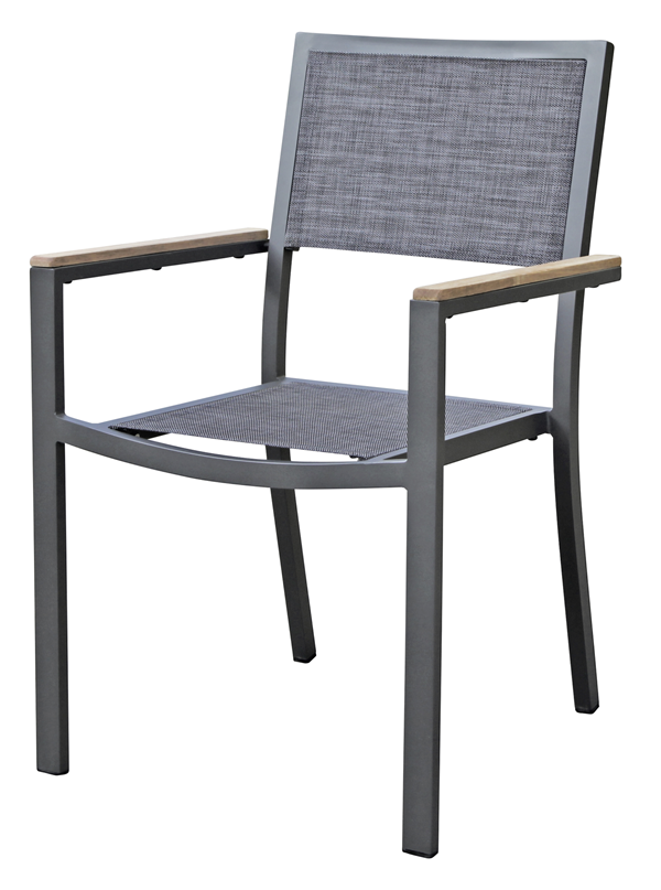 METRO Professional Stuhl Teak Anthrazit