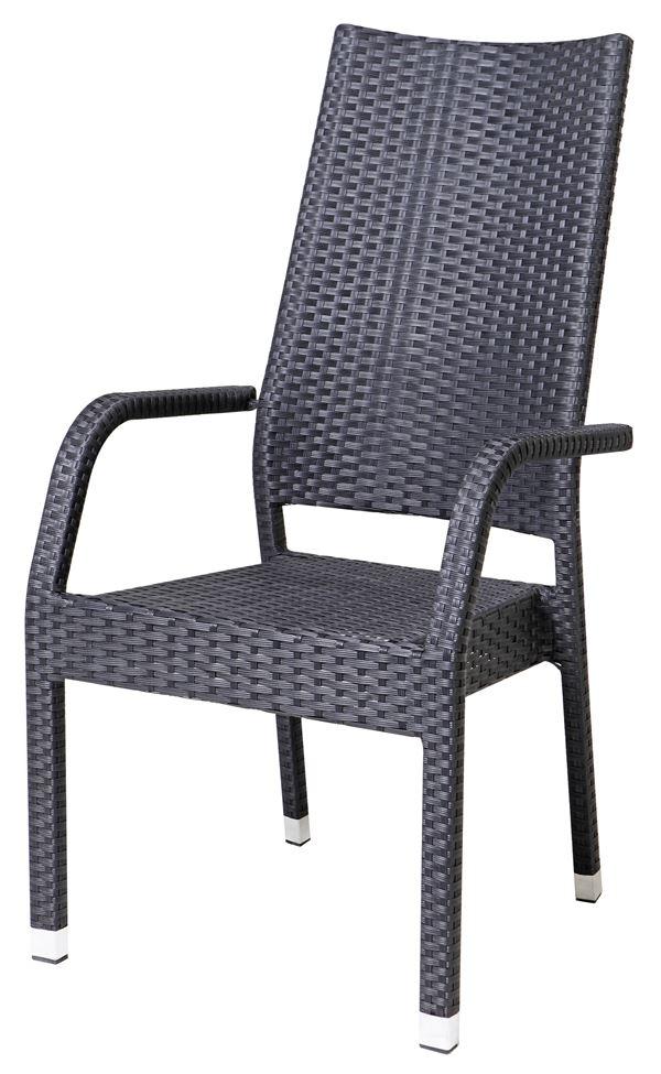 METRO Professional Stuhl Barbados mit hoher Lehne Schwarz