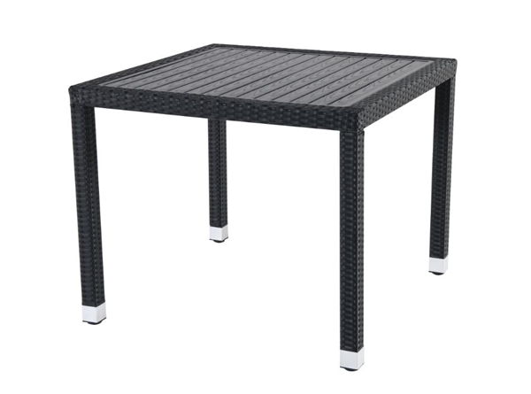 METRO Professional Tisch Barbados 90 x 90 cm Schwarz
