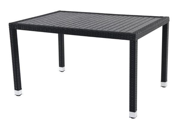 METRO Professional Tisch Barbados 130 x 90 cm Schwarz