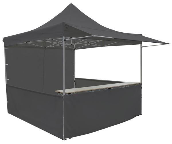 METRO Professional Pavillon mit Tisch 3 x 3 m Schwarz