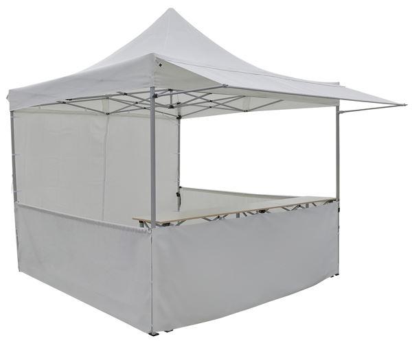 METRO Professional Pavillon mit Tisch 3 x 3 m Weiß