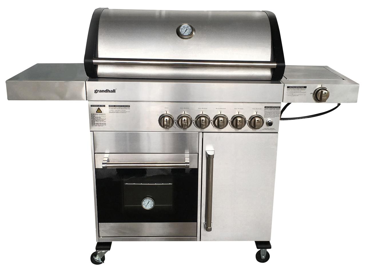 Outdoor Küche Edelstahl Metro : Grandhall gasgrill flammig mit backofen edelstahl gasgrills
