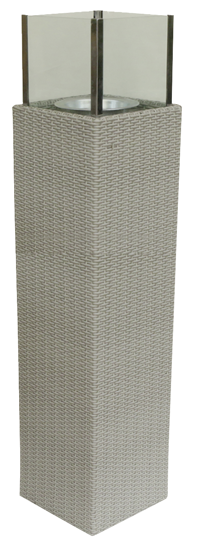 Tarrington House Athena Rattankerzenhalter 137 cm Off-White