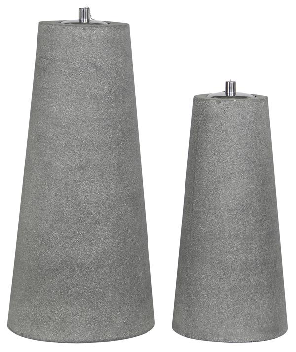 Tarrington House Öllampe Ficonstone 2er Set Grau
