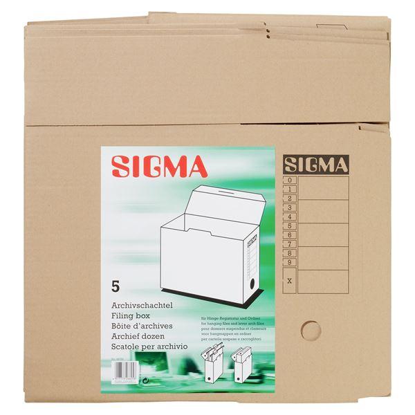 Sigma Archivschachtel - 5 Stück