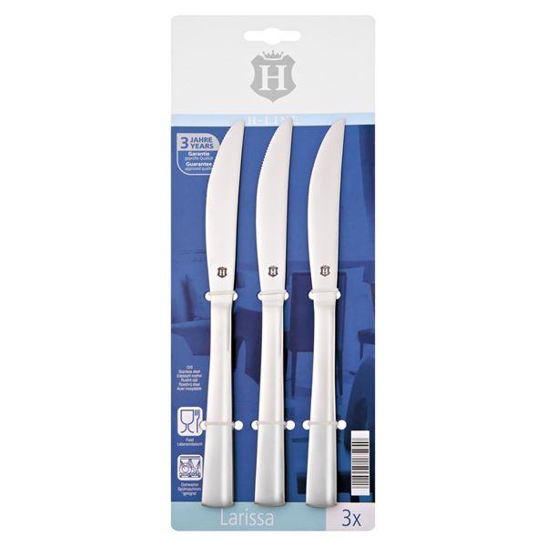 H-Line Steakmesser 3 tlg. Chromstahl 13/0