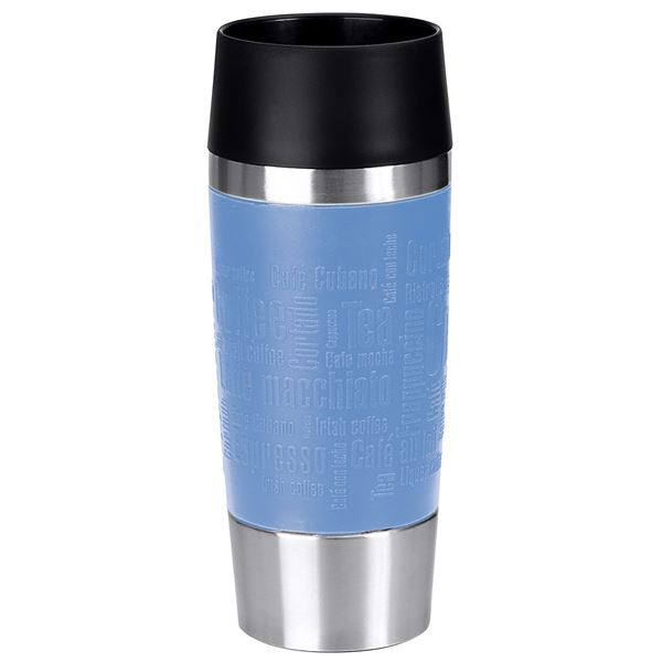Emsa Travel Mug Isolierbecher 360 ml Edelstahl 18/10, Polypropylen (PP), Silikon