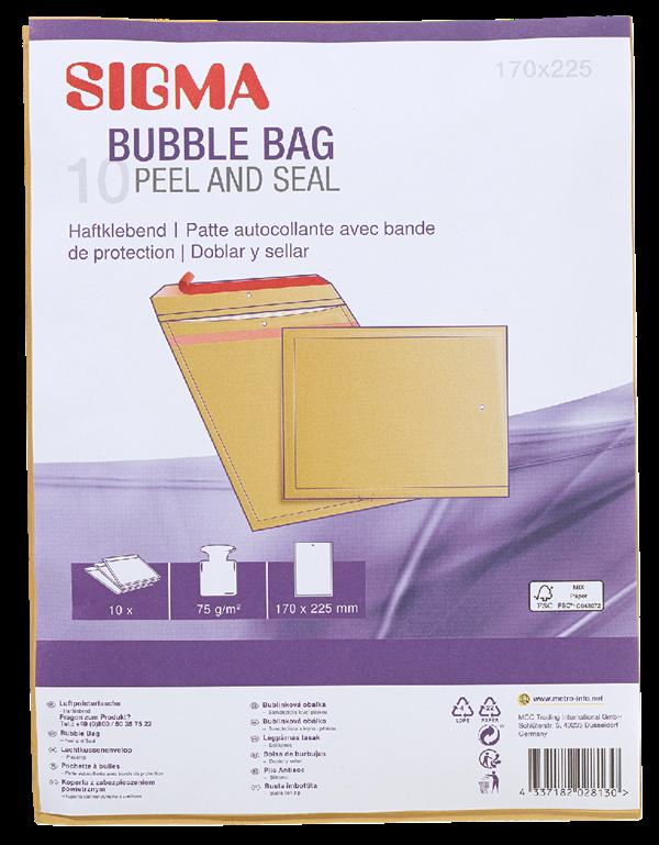 Sigma Luftpolstertaschen Braun - 10 Stück