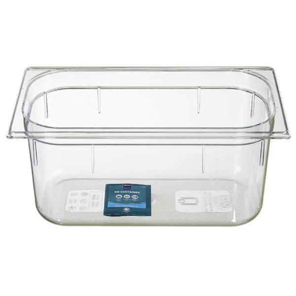 METRO Professional Gastronorm-Behälter 1/3 Polycarbonat (PC) 150 mm