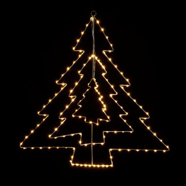 Tarrington House LED Draht-Silhouette Baum 59,5 cm