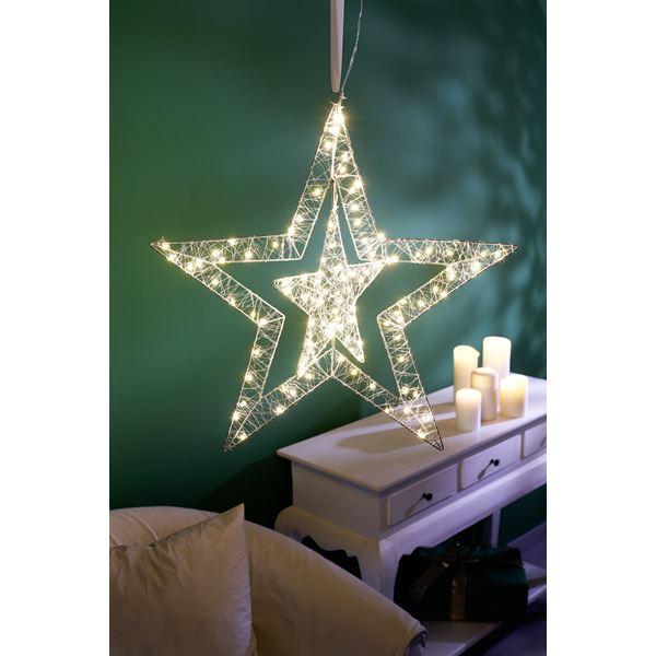 Tarrington House LED Draht-Silhouette Stern