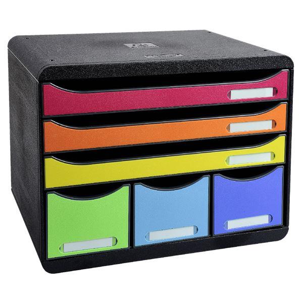 Exacompta Schubladenbox mit 6-Fächern