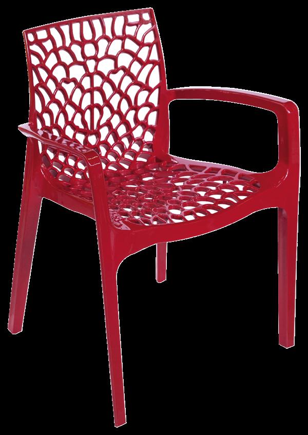 Stuhl Gruvyer Rot - 12 x