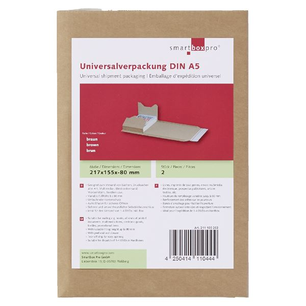 Smartbox Universalverpackung DIN A5 - 2 Stück