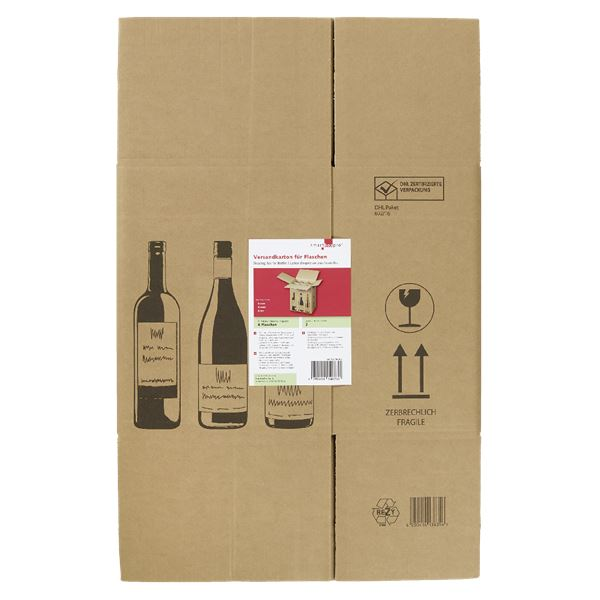 Smartbox Versandkarton für 6 Flaschen