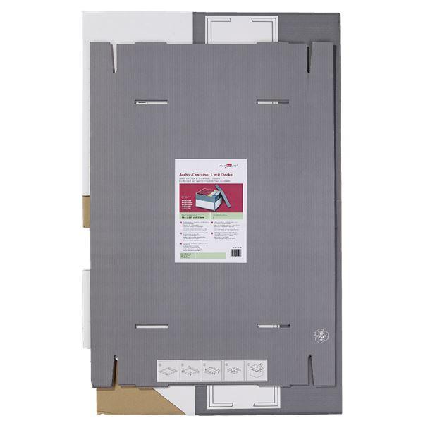 Smartbox Archiv-Container L mit Deckel - 2 Stück