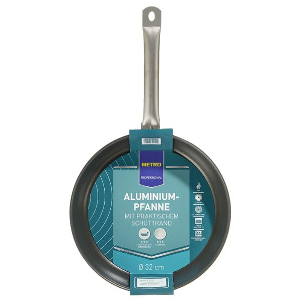 METRO Professional Pfanne 3-fach Antihaftversiegelung rund Ø 32 cm