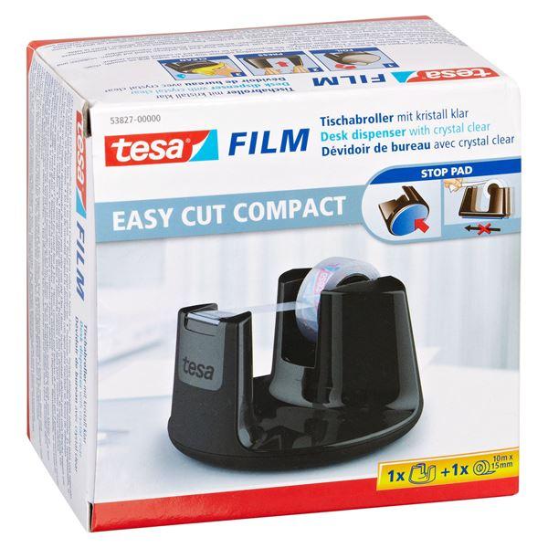 Tesa Film Easy Cut Compact Tischabroller Schwarz