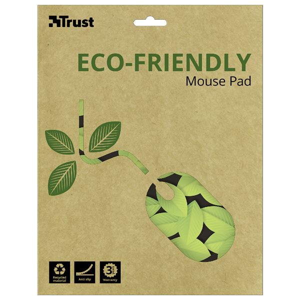 Trust Eco-Friendly Mousepad Leaves