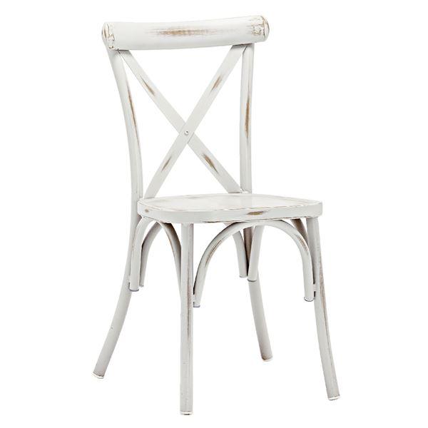METRO Professional Vintage Alu Stuhl Weiß Aluminium, pulverbeschichtet