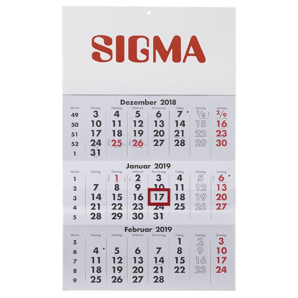 Sigma 3-Monatskalender 2019