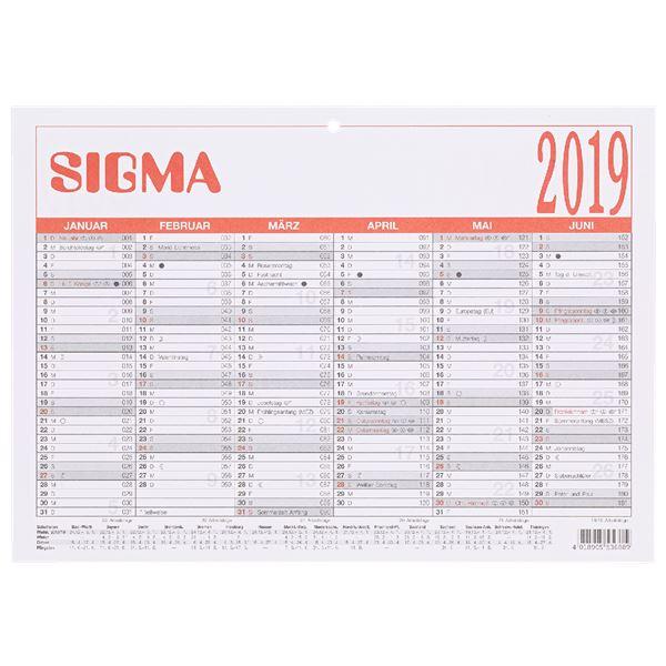 Sigma Tafelkalender 2019