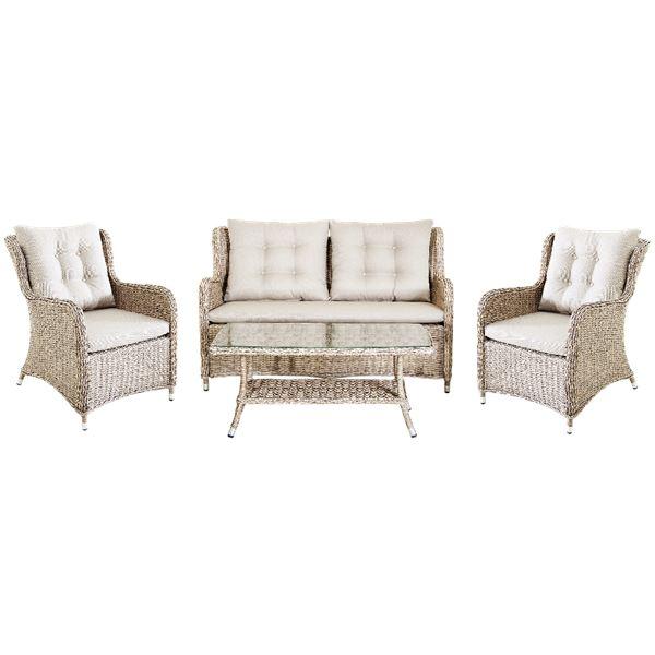 Tarrington House Beechfort 4 Pers. Sofa Set Weiß