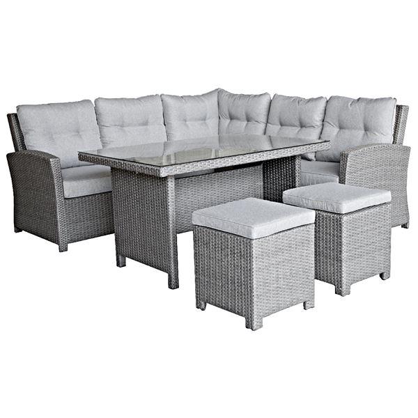 Tarrington House Sitzecke Und Tisch Set Akami Grau Hellgrau Grau