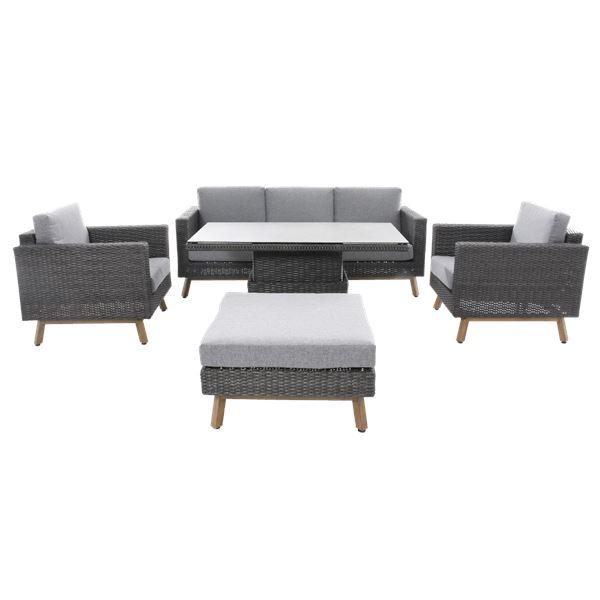 Sofa Set Alu Mit Lift Tisch Loungemöbel Outdoor Möbel Outdoor