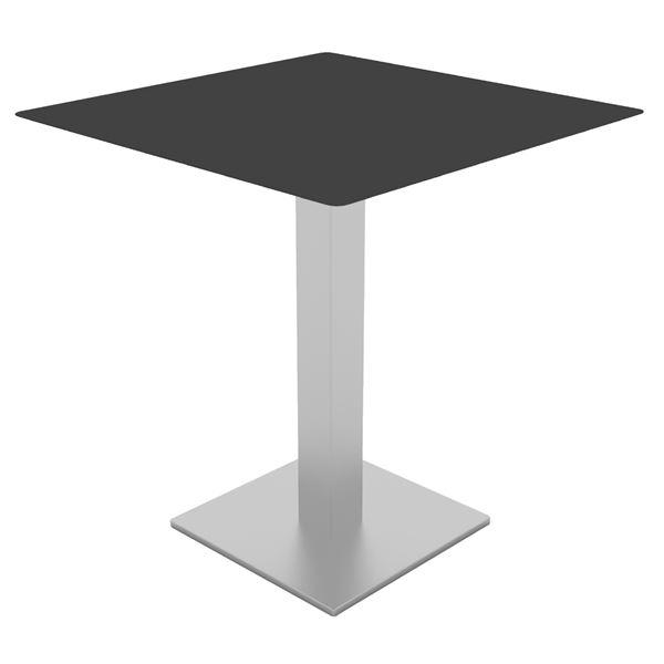 Resol Renoir Tisch 70x70cm Edelstahl, Schwarz