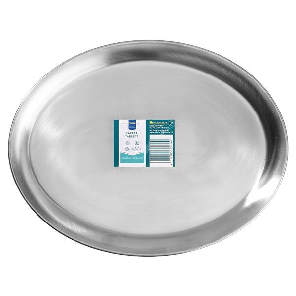 METRO Professional Kaffeetablett 26,5 cm Silber oval
