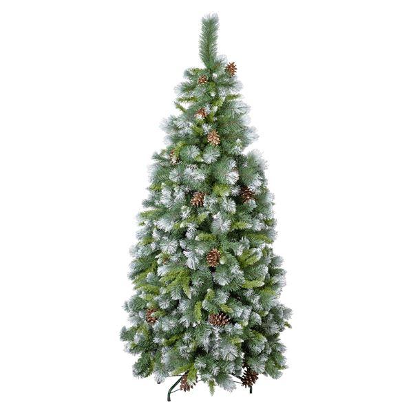 Tarrington House Weihnachtsbaum mit Schnee und Zapfen 180 cm