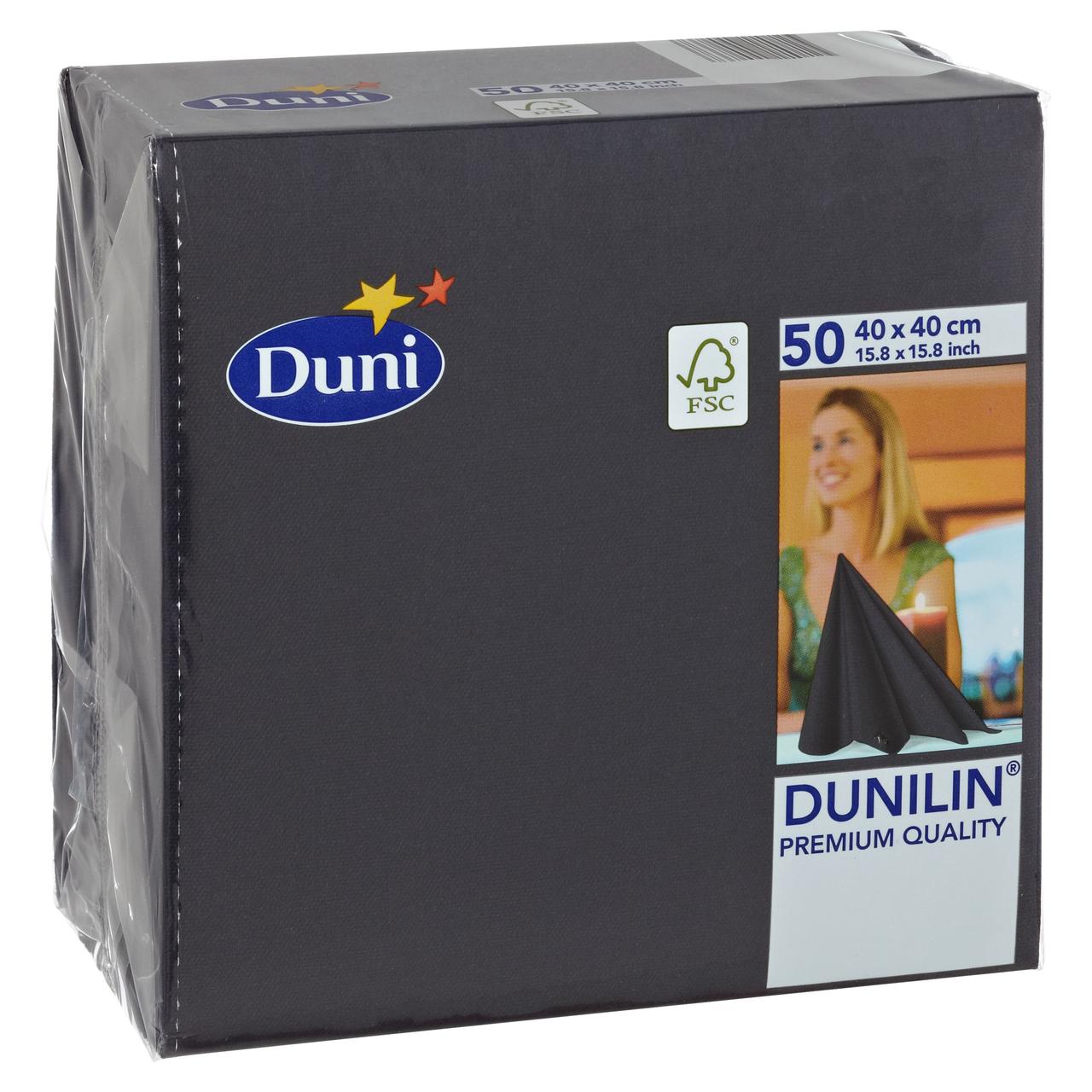 Duni Dunilin Servietten Linnea Granit Grey 40 x 40 cm 1//4 Falz 50 Stück