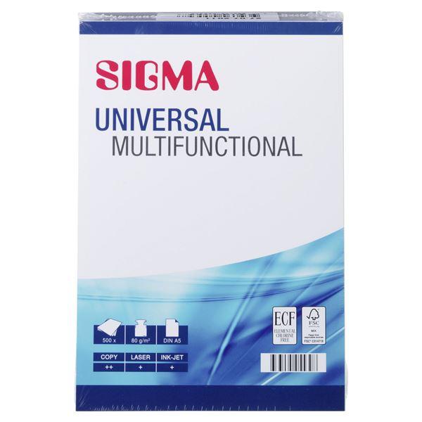 Sigma Kopierpapier Universal Multifunctional DIN A5 80 g/m² - 500 Blatt