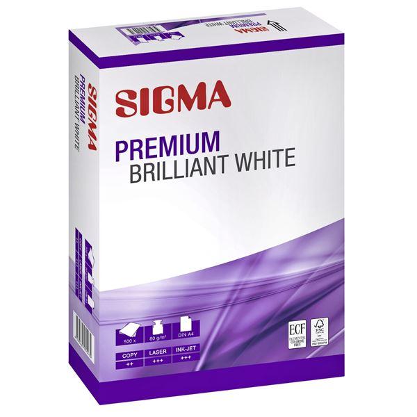 Sigma DIN A4 Kopierpapier Premium Brilliant White 80 g/m² - 500 Blatt