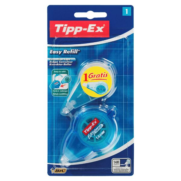 Tipp-Ex Easy Refill Korrektur-Roller + Nachfüllkassette