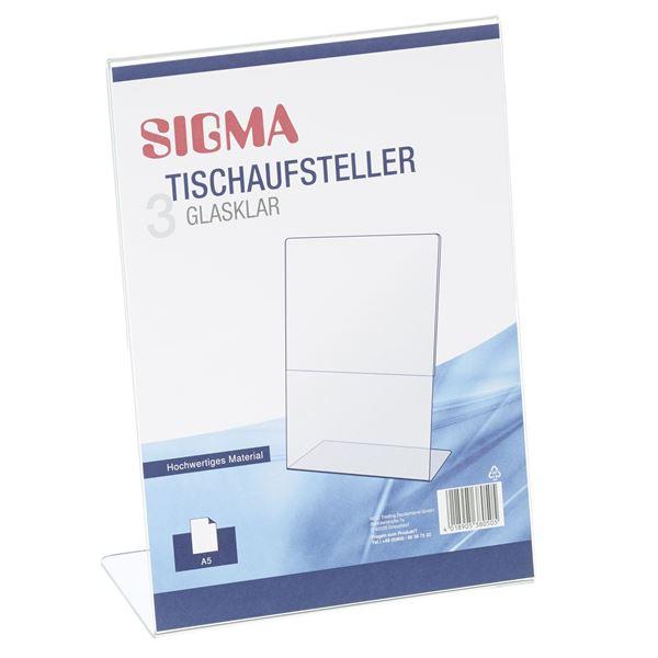 Sigma Tischaufsteller A5 - 3 Stück