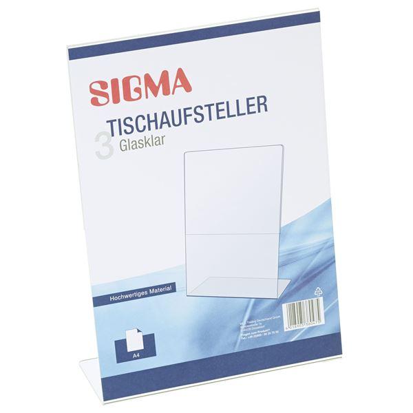 Sigma Tischaufsteller A4 - 3 Stück