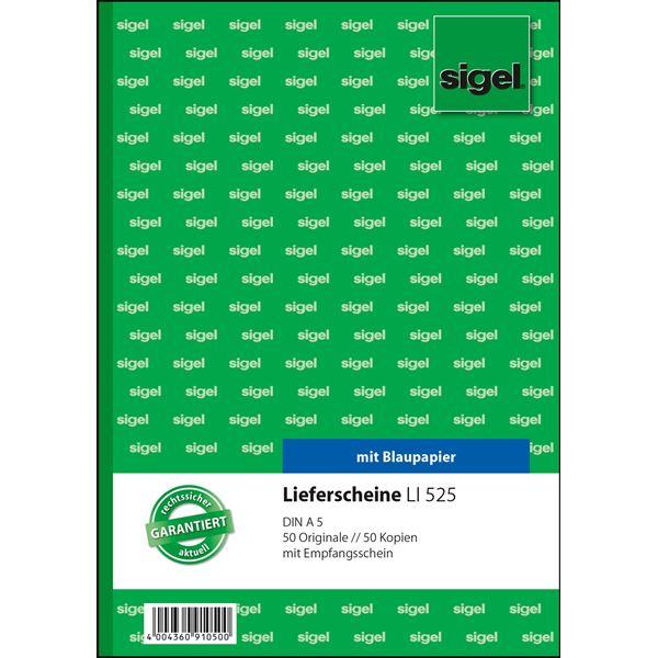 Sigel DIN A5 Lieferscheine LI 525