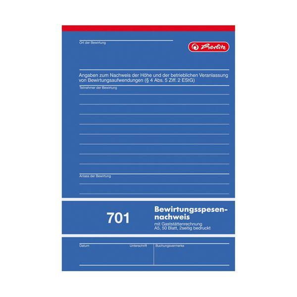 Herlitz Gaststätten Rechnungsblock A5 - 5 x