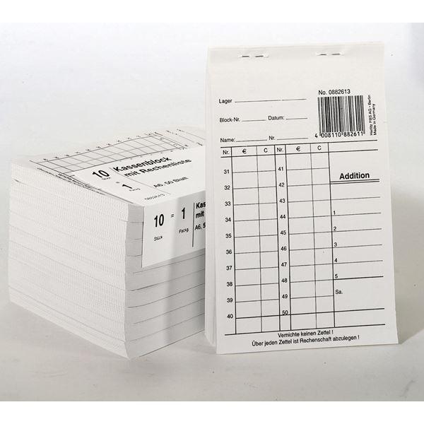 Herlitz DIN A6 Kassenblock A6 mit Rechenliste - 10 x