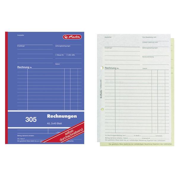 Herlitz DIN A4 Rechnungsbuch - 10 x