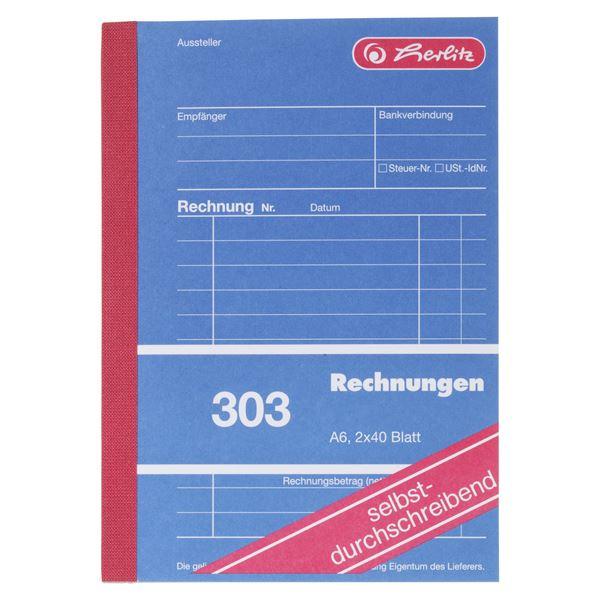 Herlitz DIN A6 303 Rechnungen - 5 x