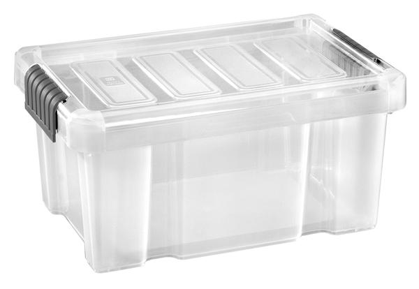 Tarrington House Clear Box mit Deckel Transparent 14 l
