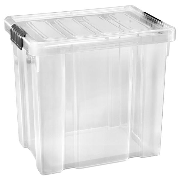 Tarrington House Clear Box mit Deckel Transparent 28 l