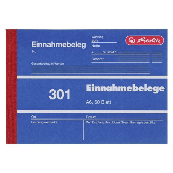Herlitz 301 Einnahmebelege A6 - 5 x 250 Blatt