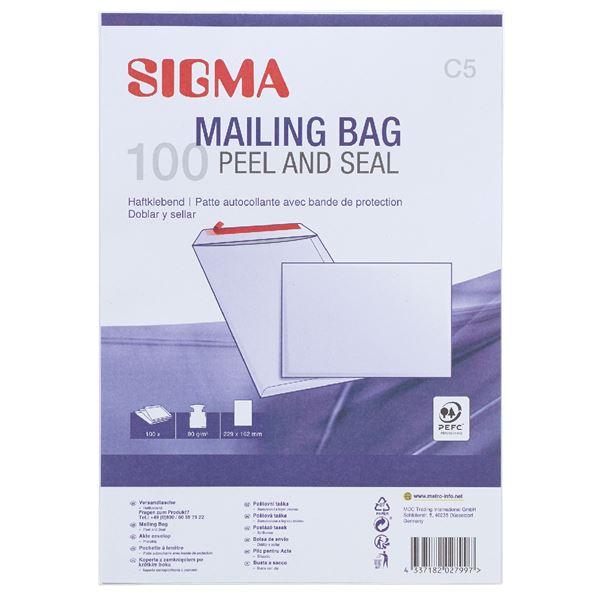 Sigma Versandtaschen DIN C5 - 100 Stück