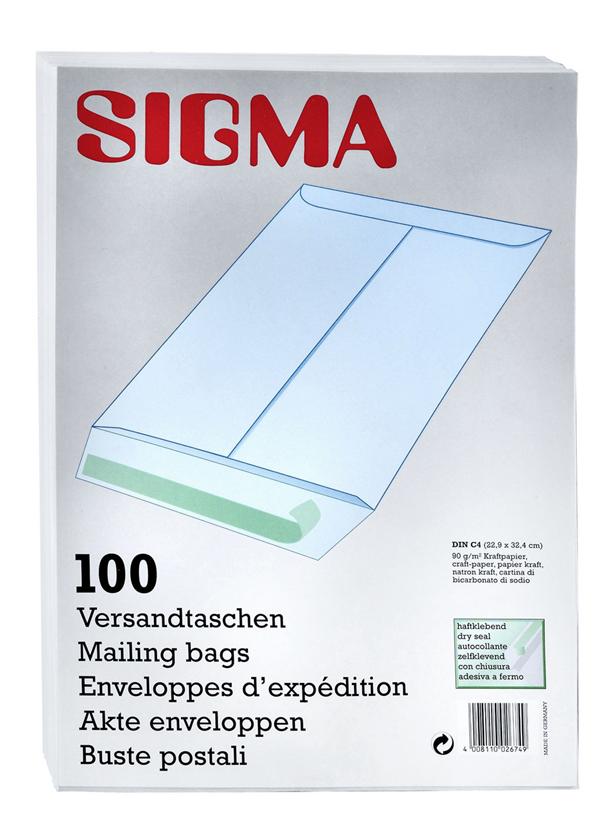 Sigma Versandtaschen DIN C4 - 100 Stück
